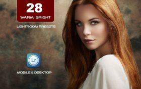 28 پریست لایت روم پرتره حرفه ای Warm and Bright Lightroom Presets