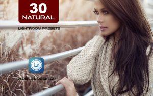 30 پریست لایت روم حرفه ای تم رنگی نور طبیعی NATURAL Lightroom Preset