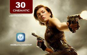 30 پریست لایت روم سینمایی و پریست کمرا راو CINEMATIC Lightroom Presets