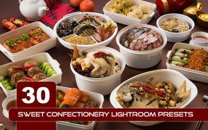 30 پریست لایت روم مواد غذایی حرفه ای Sweet Confectionery Lightroom Presets