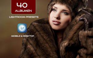 40 پریست لایت روم تک رنگ و کمرا راو و اکشن کمرا راو فتوشاپ Albumen Lightroom Presets