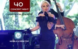 40 پریست لایت روم حرفه ای تم کنسرت شبانه Concert Night Lightroom Presets