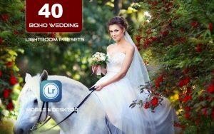40 پریست لایت روم عروسی و اکشن کمرا راو فتوشاپ Boho Wedding Lightroom Presets