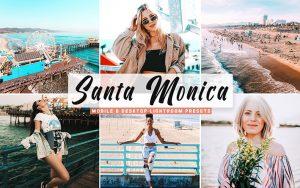 40 پریست لایت روم و کمرا راو و اکشن کمرا راو فتوشاپ تم سانتا مونیکا Santa Monica Lightroom Presets