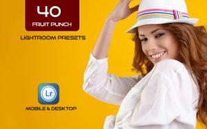 40 پریست لایت روم و کمرا راو و اکشن کمرا راو فتوشاپ Fruit Punch Lightroom Presets