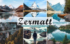 40 پریست لایت روم و کمرا راو و اکشن کمرا راو فتوشاپ Zermatt Lightroom Presets