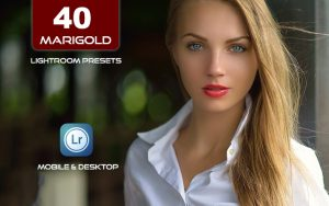 40 پریست لایت روم پرتره و کمرا راو و اکشن کمرا راو فتوشاپ تم رنگ بهاری Marigold Lightroom Presets