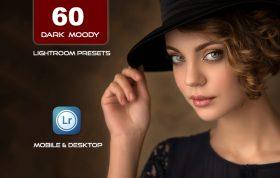 60 پریست لایت روم پرتره و پریست کمرا راو فتوشاپ Dark and Moody Lightroom Presets