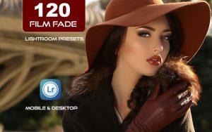 120 پریست لایت روم و پریست کمرا راو فتوشاپ و LUTs تم رنگ فیلم Film Fade Lightroom Presets