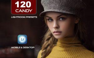 120 پریست لایت روم و پریست کمرا راو فتوشاپ و LUTs تم رنگ نباتی Candy Lightroom Presets LUTs