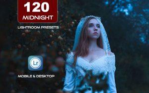 120 پریست لایت روم و پریست کمرا راو فتوشاپ و LUTs تم عکس شب Midnight Vibes Lightroom Presets