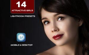 14 پریست لایت روم حرفه ای رنگی تم دختر دلربا Attractive Girls Ligtroom Presets