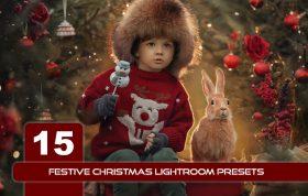 15پریست لایت روم جشن کریسمس حرفه ای FESTIVE CHRISTMAS LIGHTROOM PRESETS