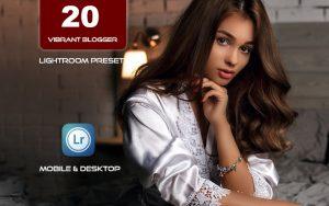 20 پریست لایت روم بلاگر دسکتاپ و موبایل Vibrant Blogger Lightroom Presets