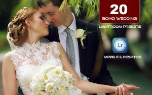 20 پریست لایت روم عروسی 2021 حرفه ای Boho Wedding Lightroom Presets Pack