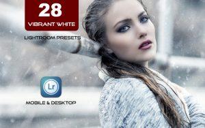 28 پریست لایت روم حرفه ای تم سفید پر انرژی Vibrant White Lightroom Presets
