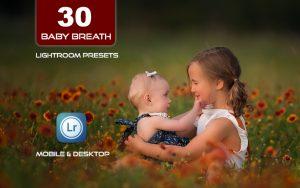30 پریست لایت روم حرفه ای کودک و نوزاد Baby Breath Lightroom Presets