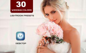 30 پریست لایت روم عروسی و براش لایت روم Wedding Colors Lightroom Presets
