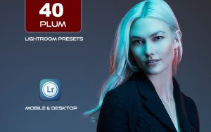40 پریست لایت روم بنفش و کمرا راو و اکشن کمرا راو فتوشاپ Plum Lightroom Presets