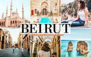 40 پریست لایت روم و کمرا راو و اکشن کمرا راو فتوشاپ تم بیروت پایتخت لبنان Beirut Lightroom Presets
