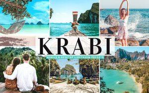 40 پریست لایت روم و کمرا راو و اکشن کمرا راو فتوشاپ تم ساحلی Krabi Lightroom Presets