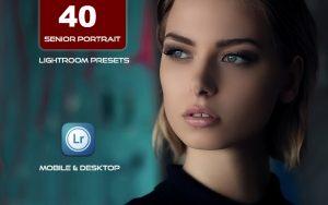 40 پریست لایت روم پرتره و کمرا راو و اکشن کمرا راو فتوشاپ Senior Portrait Lightroom Presets