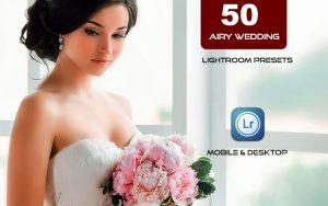 50 پریست لایت روم عروسی تم رنگی روشن Bright Airy Wedding Preset Pack