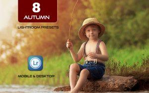 8 پریست لایت روم پاییز دسکتاپ و موبایل Autumn Lightroom Presets